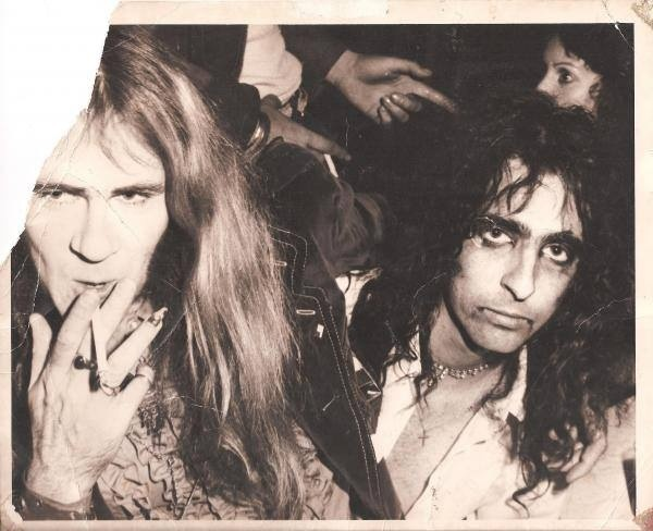 Glen Buxton and Alice Cooper