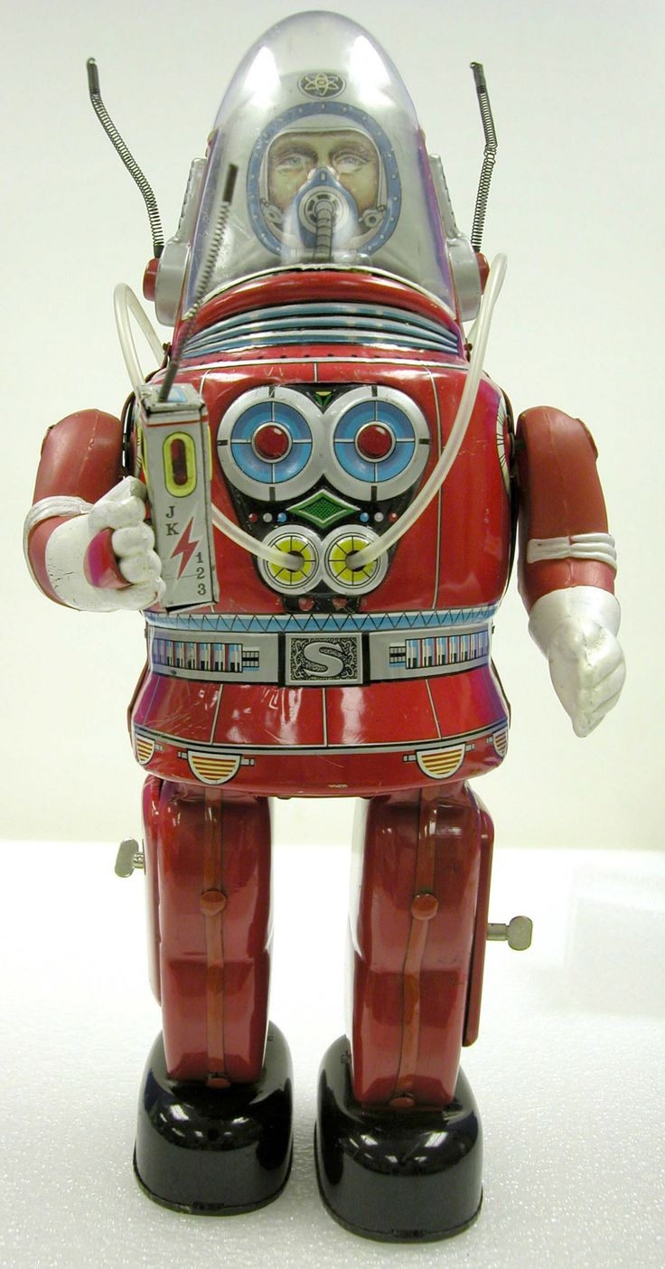 Tin Toy, Astronaut, Rosko, Red - Smithsonian National Air and Space Museum…