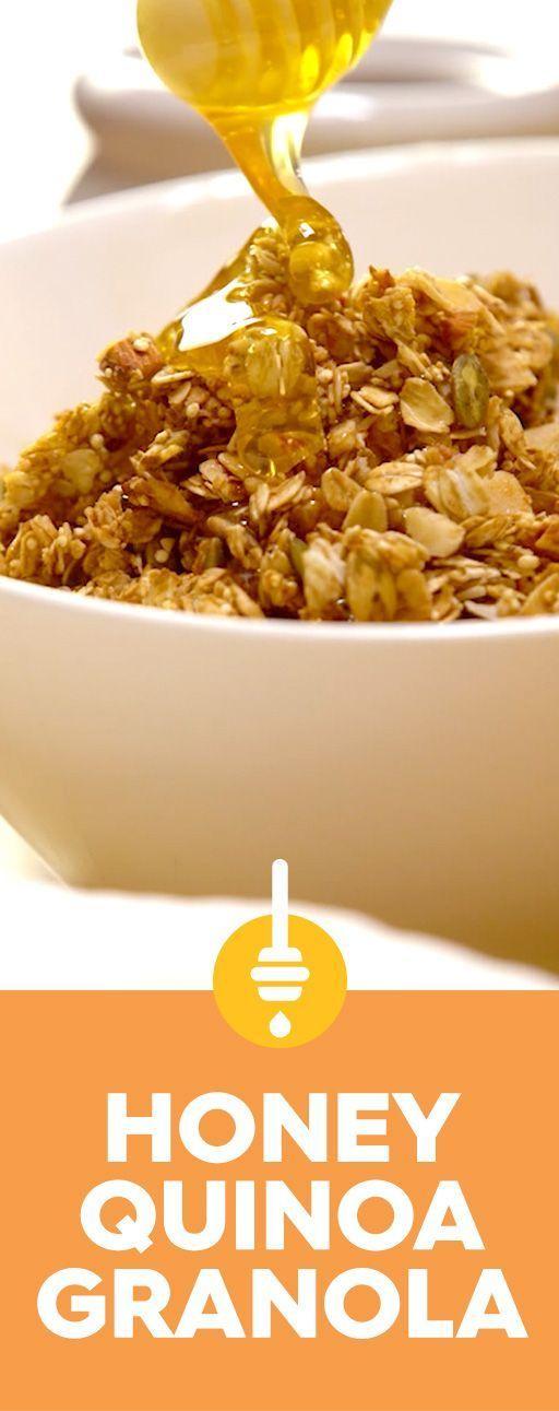 Quinoa-Honey Granola - #granola #honey #quinoa - #new