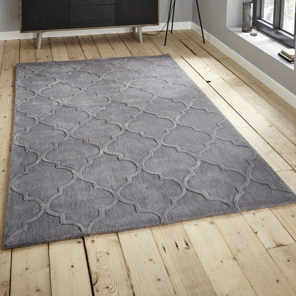 Bertrange Hand Tufted Silver Area Rug In 2019 Area Rugs