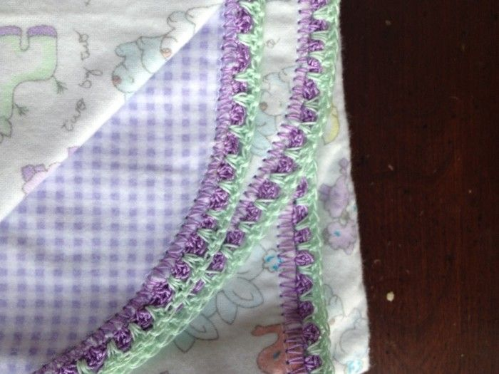 Receiving Blankets With Crocheted Edges - Brooklyn Berry Designs