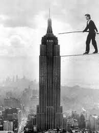 Philippe Petit, Man on Wire. 1974.
