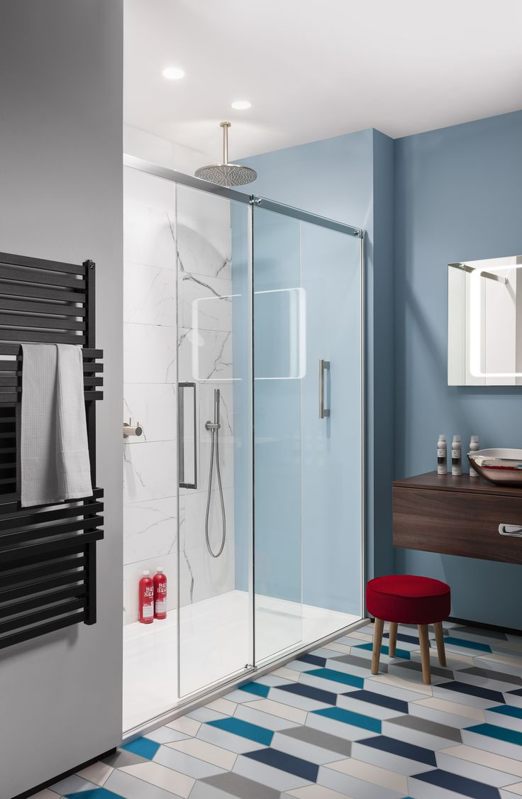 Can't get enough of the geometric trend? Add a little edge to your bathroom! Ten Single Slider Shower Enclosure was £1129 NOW £678! http://www.crosswater-sale.co.uk/product/showering-shower-enclosures-view-all/ten-single-slider-shower-door-ten-single-slider-with-sp/