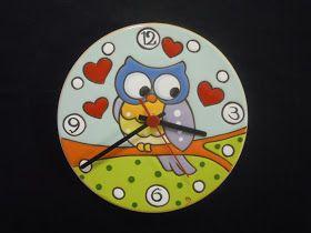 Orologio con gufo su ramo   diametro cm 20         Orologio con pesce   diametro cm 20            Orologio con gufi   mis...