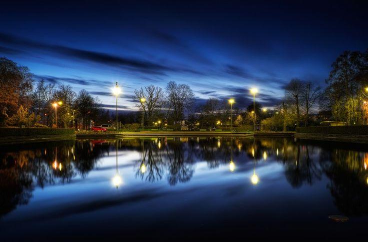 HDR in Helsinki: Downtown The park of Kaisaniemen puisto.