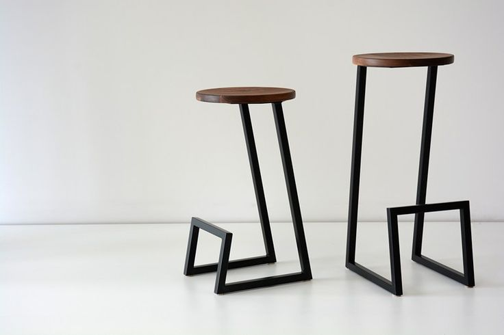 Low solid wood stool with footrest CORKTOWN | Low stool - hollis+morris