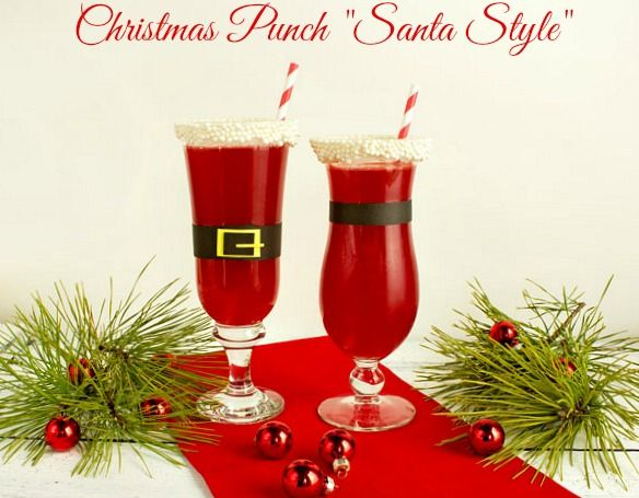 "Christmas Punch ""Santa Style""-Raspberry Punch Recipe"