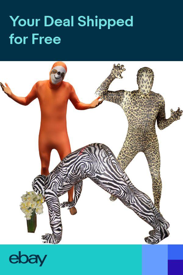 Animal Morphsuit Leopard Sloth Zebra Fancy Dress Costume for Stag Party Festival