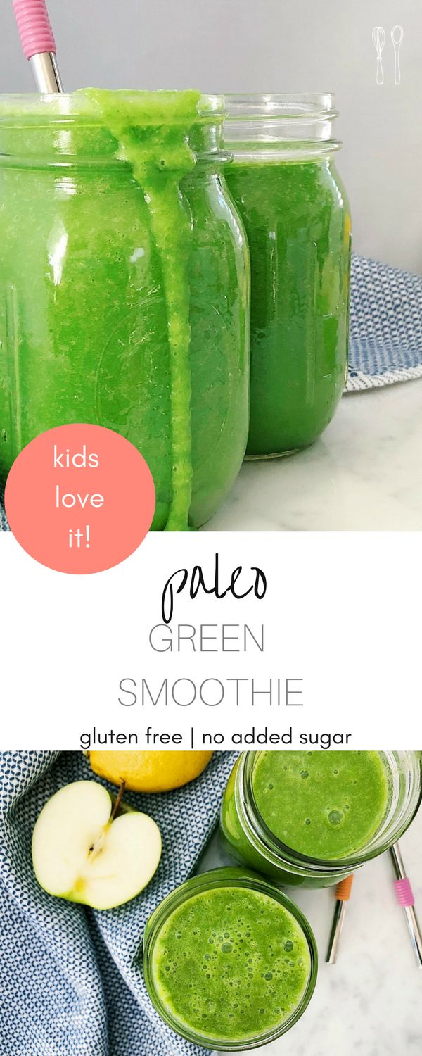 Addicting Paleo Green smoothie recipe! Perfect for a mid-week pick me up!