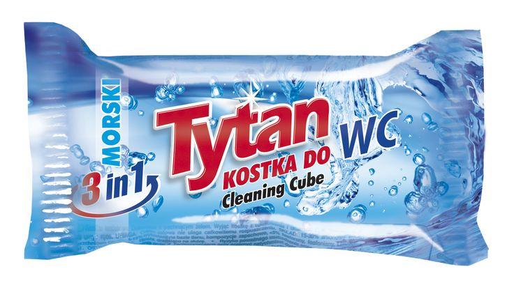 Dwufazowa kostka do WC Tytan morski zapas / Tytan Double-phase Toilet Bowl Cleaning Cube refill