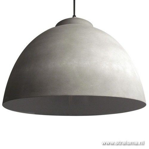 **Hanglamp koepel beton keuken/eettafel | Straluma