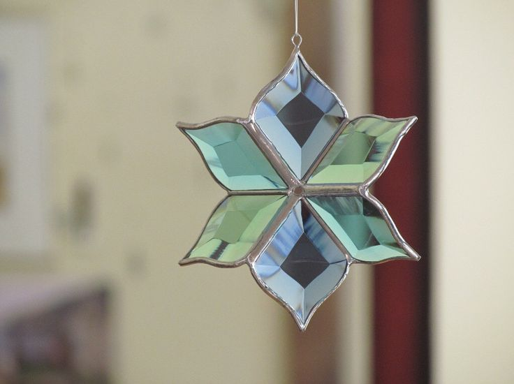 New Aqua Stained Glass Flower Suncatcher Sculptural Blue Turquoise Green Glass Ornament Indoor Outdoor Garden Art Made in Canada by SNLCreations on Etsy https://www.etsy.com/au/listing/287538979/new-aqua-stained-glass-flower-suncatcher