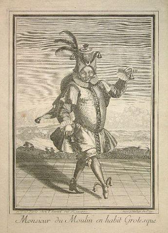 Monsieur du Moulin en habit grotesque