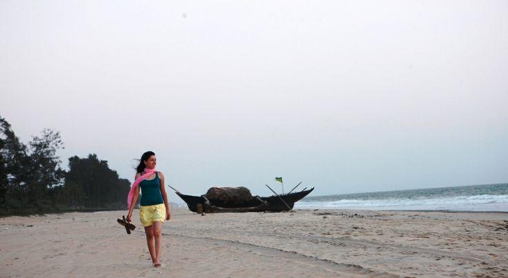 A walk on the beach can be achieved by the Alila Diwa Goa shuttle service #Goa #Majorda