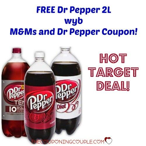 WOW! There is a new FREE Dr Pepper 2L when you buy M&Ms and Dr Pepper! There is a HOT sale at Target to stack with this coupon! You are going to love this deal! Check out the details -->>  ► http://www.thecouponingcouple.com/free-dr-pepper-2l-wyb-mms-dr-pepper-hot-target-deal/  #Coupons #Couponing #CouponCommunity  Visit us at http://www.thecouponingcouple.com for more great posts!