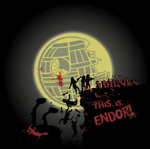 Madness? This Is Endor! [T-Shirt]: Geek Stuff, 300 Meeting, Kent Zonestar, Stars War, Kentzonestar, 300 Ewok, T Shirts, Starwars, 300 Parodi