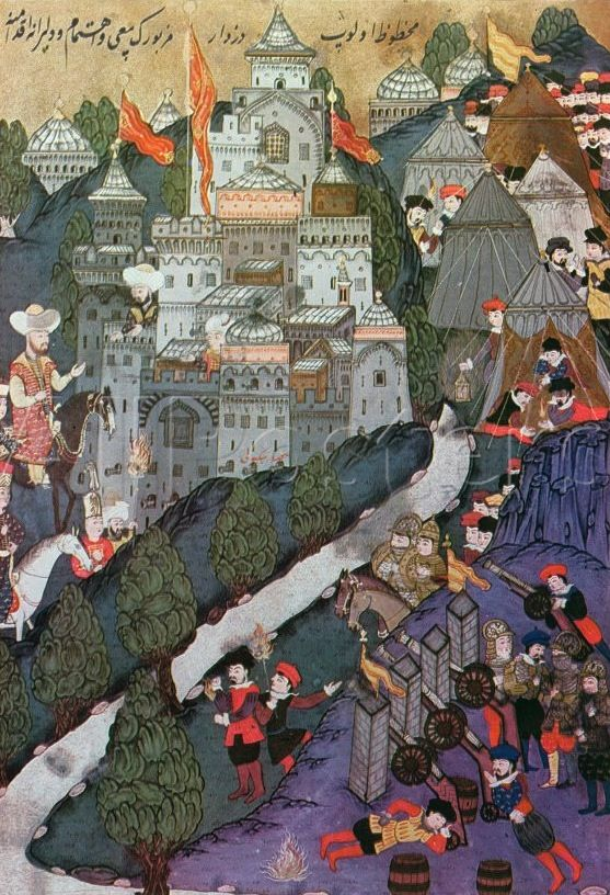File:Battle of Nicopolis, 1396, Facsimile of a Miniature Conserved in the Topkapi Museum in Istanbul-.jpg
