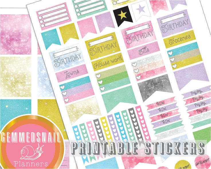 Bokeh and glitter planner stickers, full box planner stickers fits Erin Condren planners, printable planner stickers in glitter & bokeh