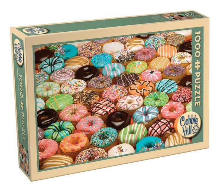 Cobble Hill Jigsaw Puzzle 1000-Piece - Doughnuts