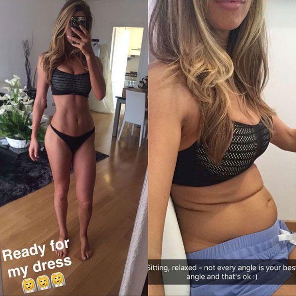 Fitnessmodel zeigt Bauch: Zwischen diesen Fotos liegen nur 2 Minuten