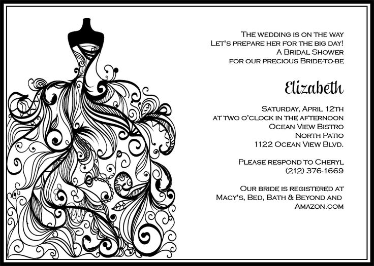 16 best Bridal Shower Invitations free images – Free Printable Blank Wedding Invitation Templates