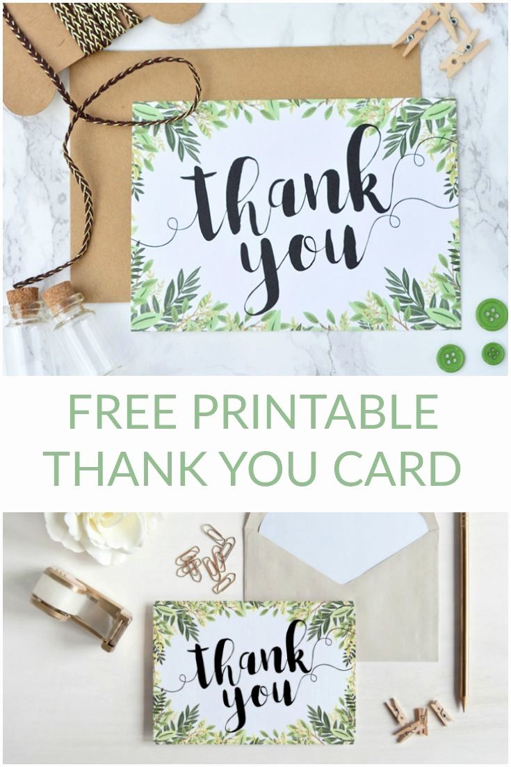 homemade thank you cards printable