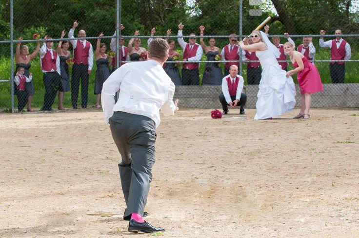 Brittany & Paul {Summer Wedding} Softball Fields, Fitchburg, WI ©Lola Mae Images