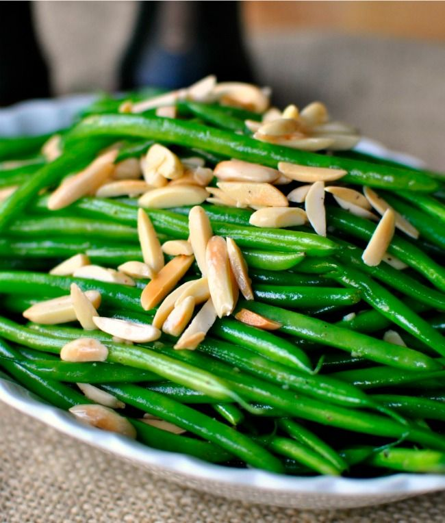 Could use olive oil instead of butter. Very tasty. Sauteed-Garlic-Green-Beans-with-Toasted-Almonds