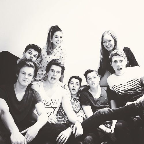 YouTubers: all my favorites :) if dan and phil were there that would be awesome