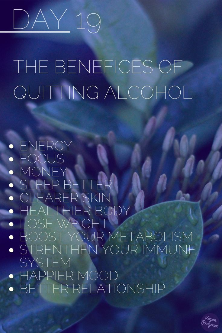 Day19 30Day No Alcohol Challenge What happens to your body once you quit drinking ? Whiting the first days you will start to feel the benefits :)