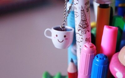Coffee cup keychain wallpaper