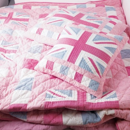 1000 images about union jack on pinterest single duvet for Pink union jack bedding