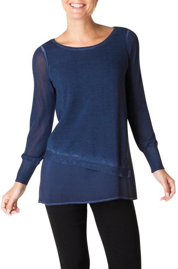 Yest Indigo Sweater Blouse
