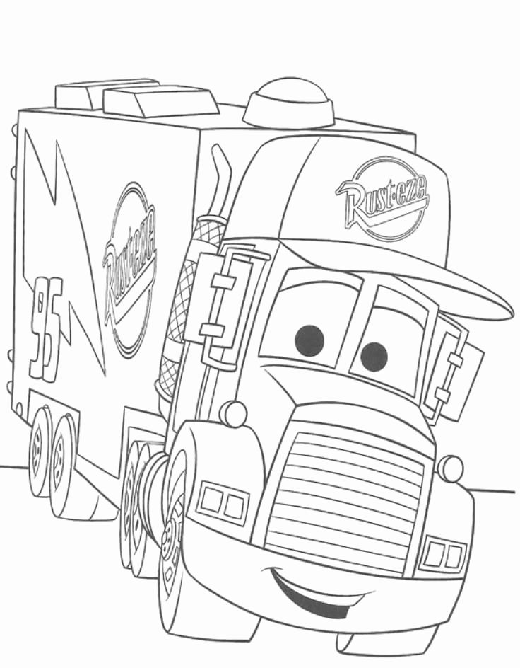 Coloring Pages Kids Cars Disney In 2020 Truck Coloring Pages Monster Truck Coloring Pages Disney Coloring Pages