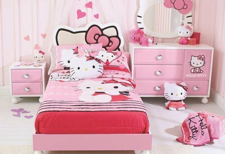hello kitty habitacion chica colores rosa ideas