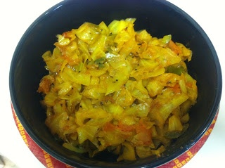 Spice it up... | Everyday Gujarati Food: Spicy Cabbage Curry