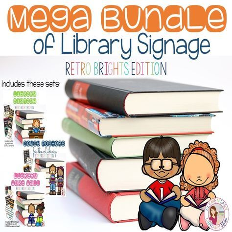 Ready to give your library a fresh and colorful new look? This bundle includes Dewey Posters, a Library Word Wall and EDITABLE Library Signage!