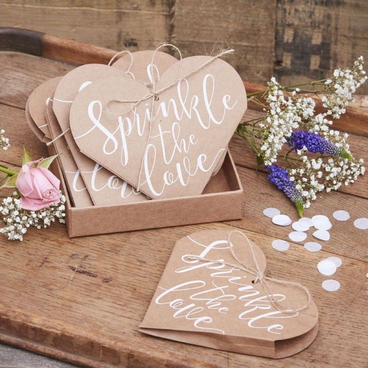 These adorable Sprinkle The Love Heart Confetti Cones are a memorable rustic touch to finish off your celebrations Guests will delight in sprinkling