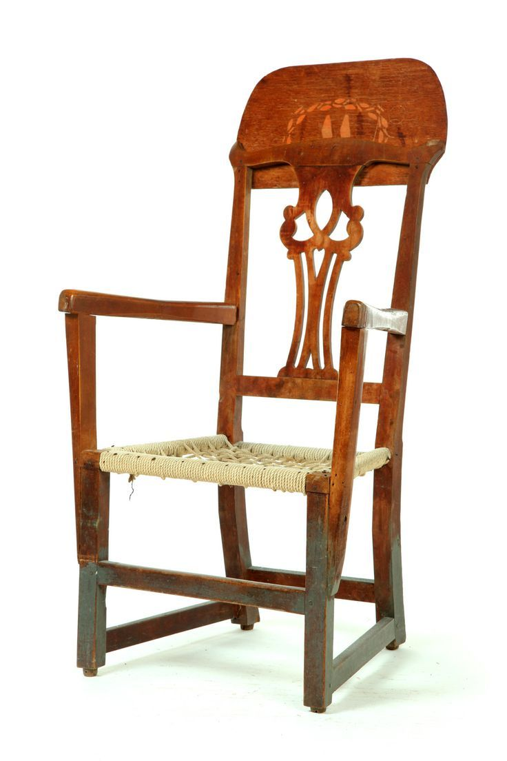 This israel sack american federal mahogany antique lolling arm chair - Chippendale Chair Later Adapted Into An Upholstered Easy Chair Upholstery Removed To