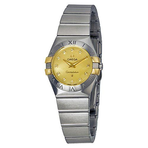 Omega Constellation Champagne Mother of Pearl Diamond Ladies Watch 1232024605700...