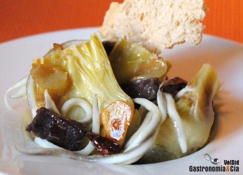 Alcachofas Con Gulas Y Cecina   Gastronomía & Cía