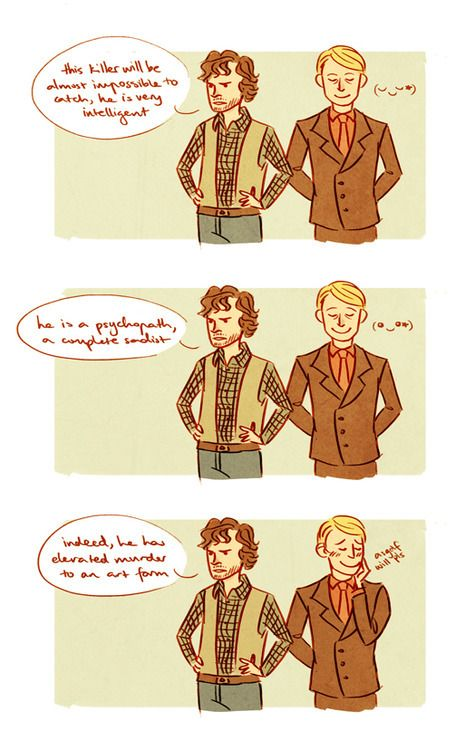 Hannibal comic - Probably shouldn't sweet talk Hannibal that way, Will...