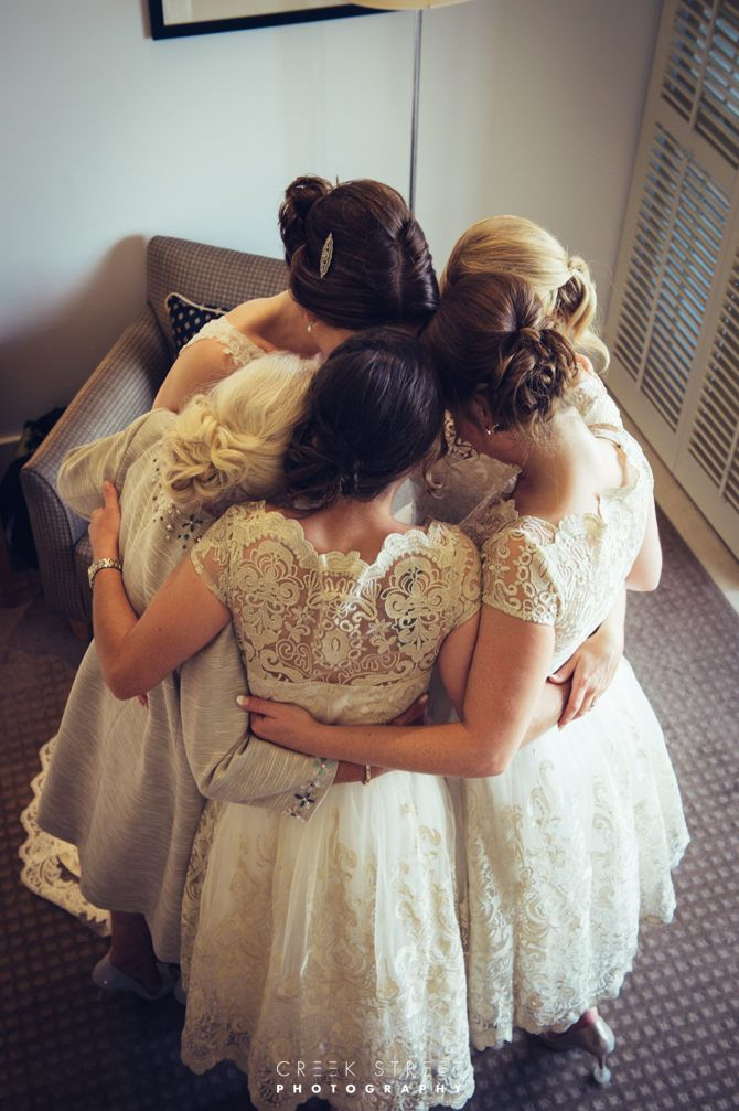 Bride with mum and bridesmaids - wedding photography from Watsons Bay Hotel