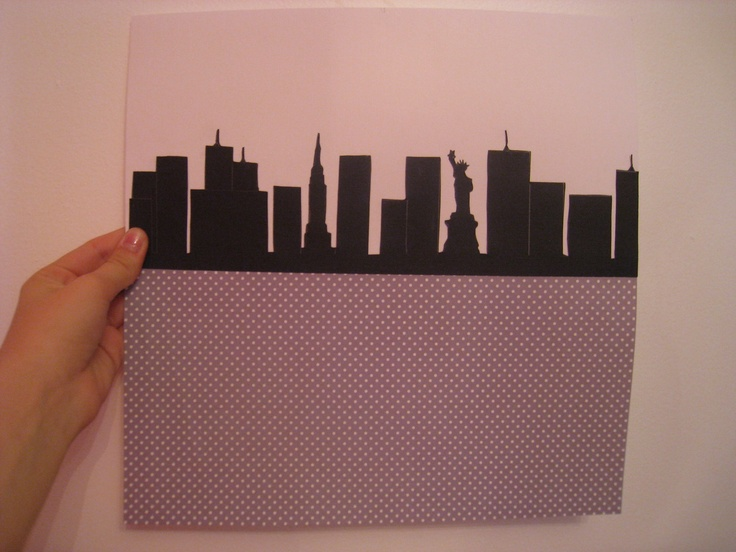 New York City Skyline Scrapbook - I made this :) Very easy, it took about 1 hour - 1 hour 1/2. Enjoy!