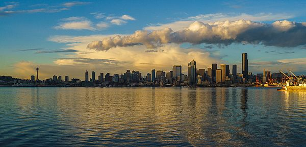 Seattle Dusk Skyline Photography by Mike Reid
