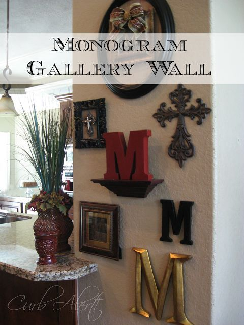 DIY:  Monogram Gallery Wall - extremely easy tutorial!