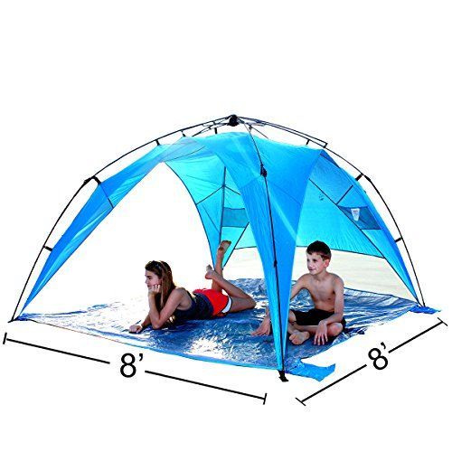 EasyGo Shelter XL  Instant Beach Umbrella Tent Pop Up Easy Up Canopy Sun Sport Shelter with PVC Floor -- Learn more by visiting the image link.Note:It is affiliate link to Amazon.