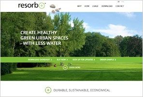 Milford's product launch web page for their new urban landscaping product