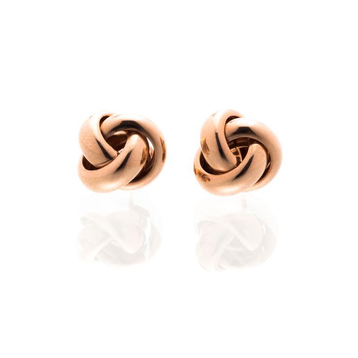 Rose Gold Love Knot - $100  www.toriandtaz.com