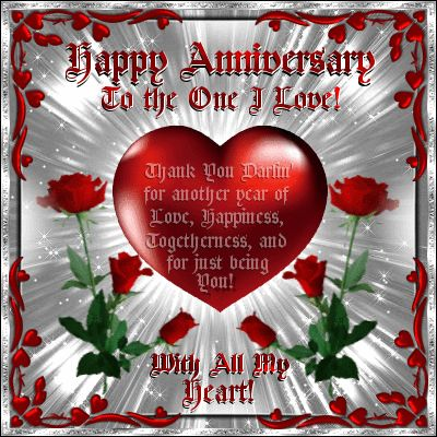 Perfect ecard to say Thank You to your partner on your Anniversary from your heart!